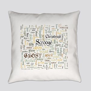 A Christmas Carol Word Cloud Everyday Pillow